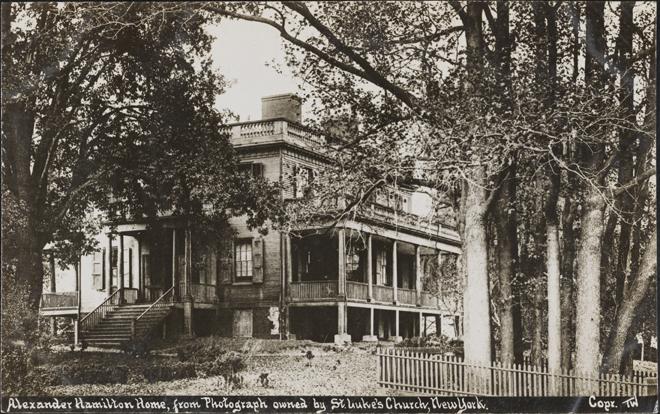 Alexander Hamilton House, New York. ca. 1889