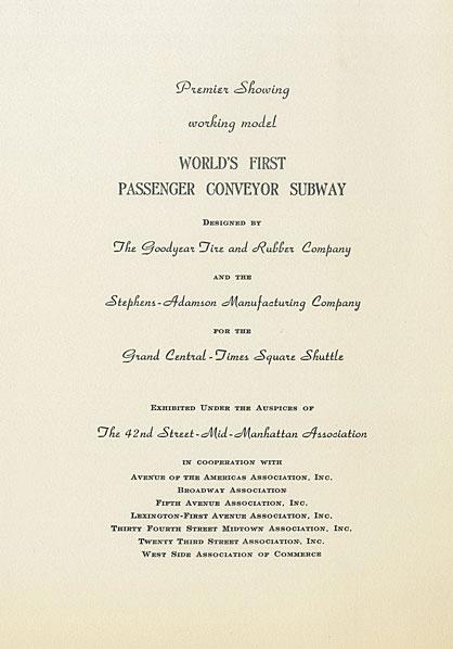 21年1953月XNUMX日にホテルアンバサダーで開催された交通イベントへの招待状。