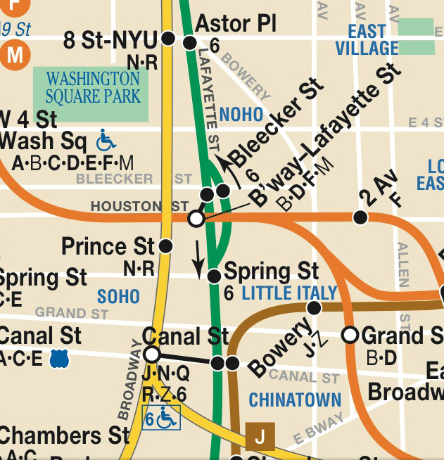 Nyc Subway Map Vs Actual.The Broadway Lafayette Transfer And The Evolution Of The City S