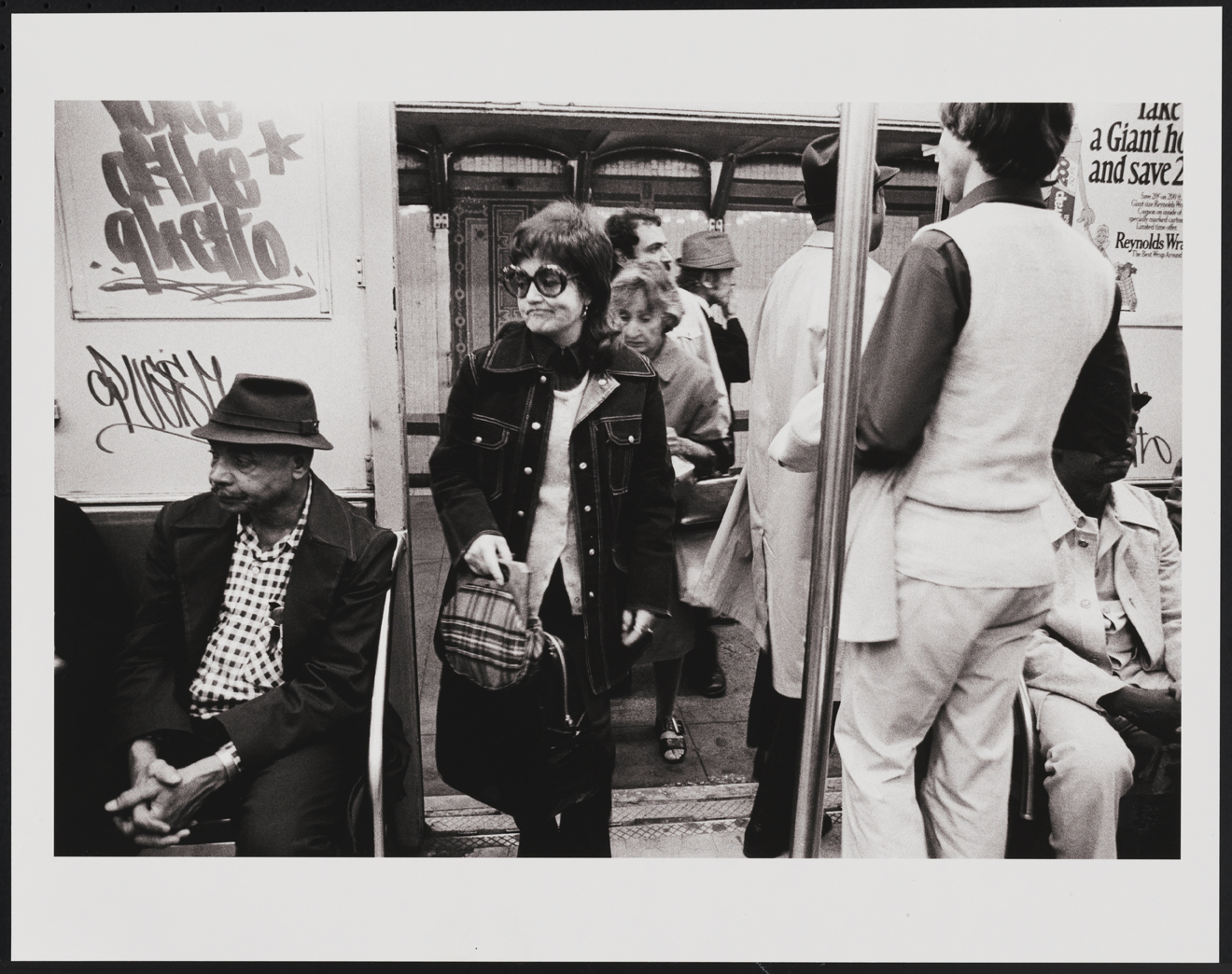 Leland Bobbé, Subway [Voice of the Ghetto], 1974. Archival pigment print. Gift of the photographer. 2016.10.7.