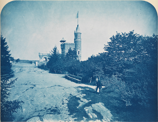Belvedere Castle, Looking North, ca. 1878. Augustus Hepp