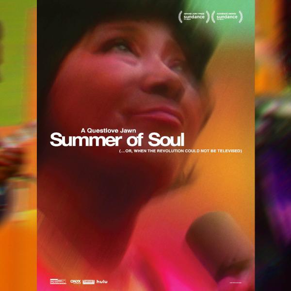 Une série de trois images floues : BB King jouant de la guitare, Mahalia Jackson levant les yeux et Sly & The Family Stone chantant.