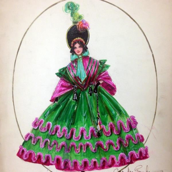 "Cora MacGeachy ""Strip Tease of the Fifties"" from 1923 presented at the museum."