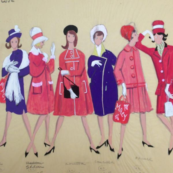 A museum photo by Alvin Colt of [Macy's Shoppers in Here's Love] in 1963.
