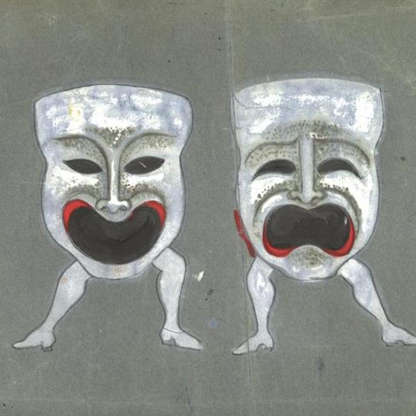 "A photo by Irene Sharaff of a ""Costume design for The Boys from Syracuse"" during 1938."