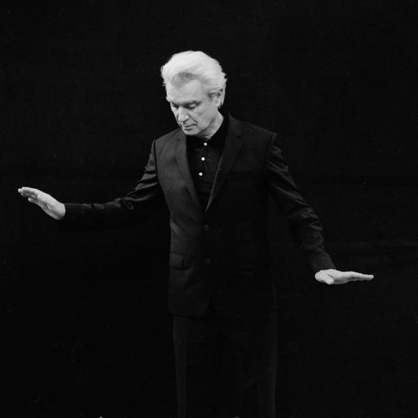David Byrne (black and white photo)