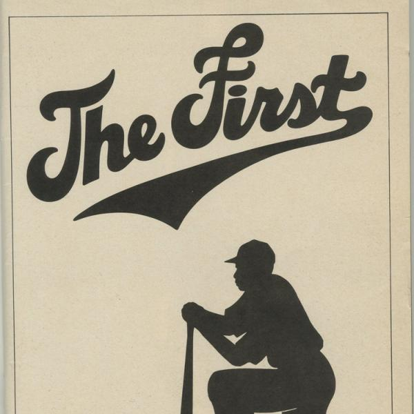 Playbill theatre program for The First, 1981 at the Martin Beck Theatre.