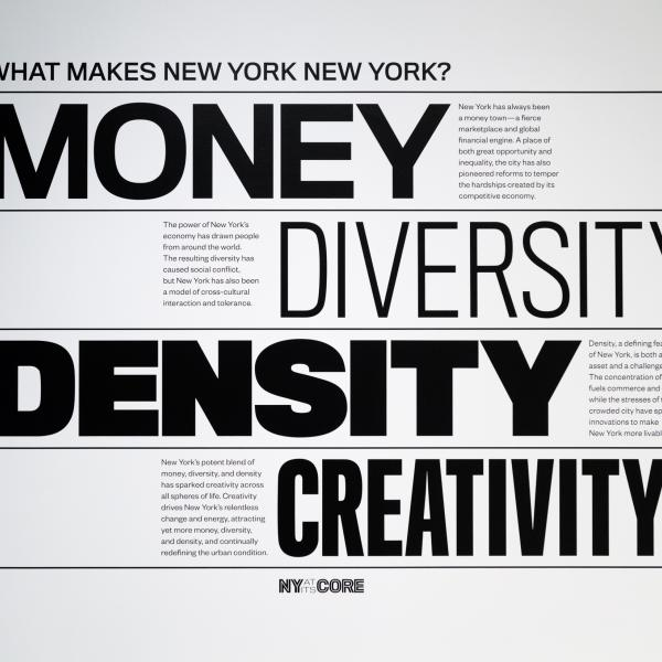 What makes New York, New York? Money, Diversity, Density, and Creativity.