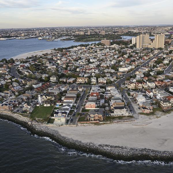 Les Rockaways à la suite de la super tempête Sandy.