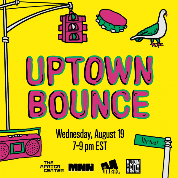 Uptown Bounce graphic with drawings