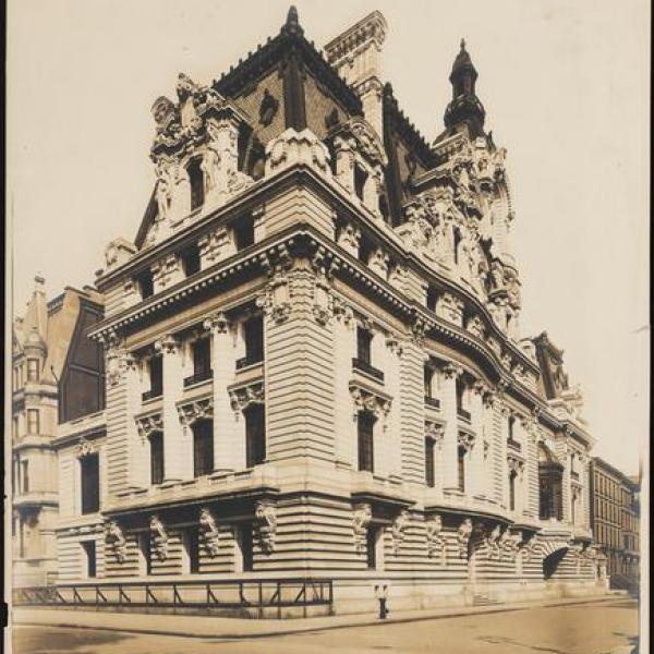 Wurts Bros photo of Senator Clark's mansion on 960 Fifth Avenue courtesy from the museum.