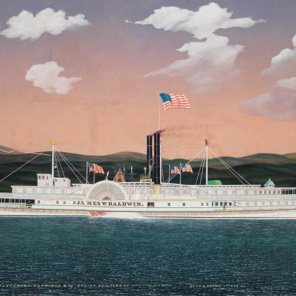 A steamboat, painted by James Bard, 1861