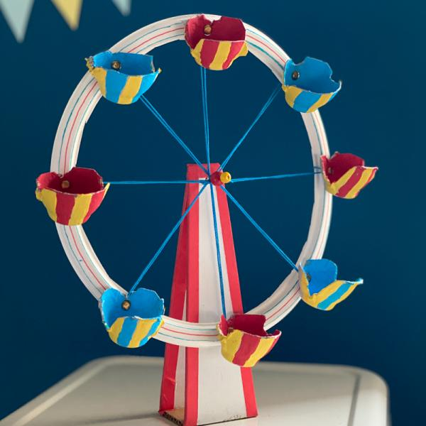 Model Wonder Wheel crafted by Amanda Kingloff, founder of PROJECT KID