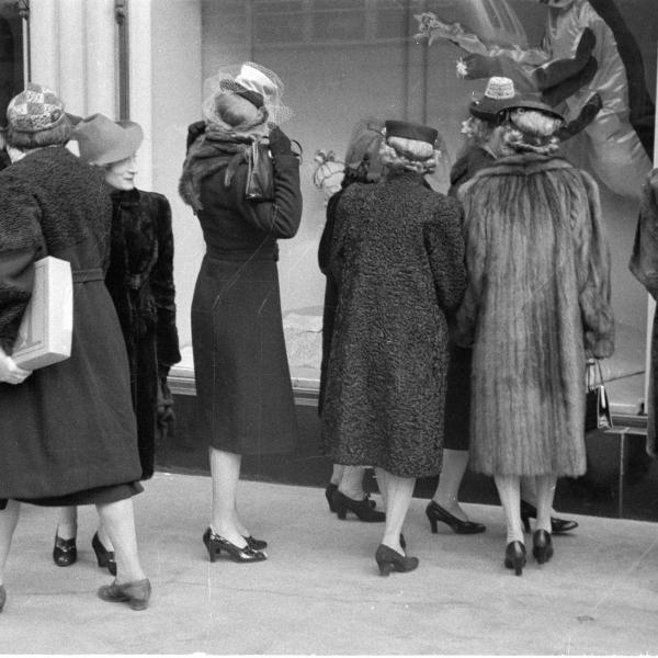 Women window shopping