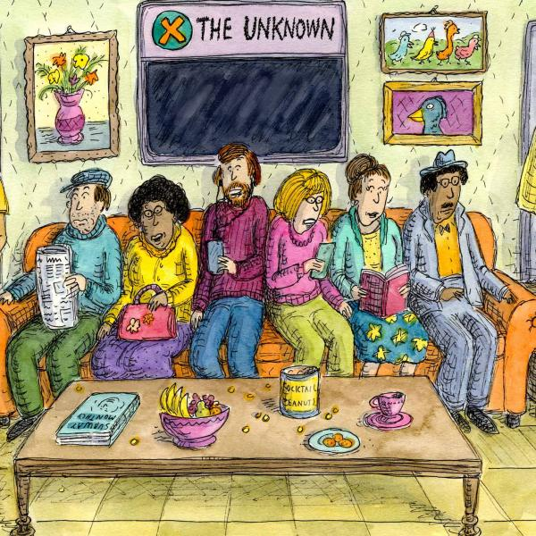 Subway Sofa cartoon by Roz Chast
