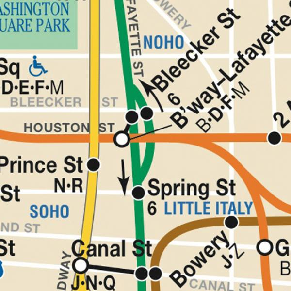 MTA New York City Subway Map via http://www.mta.info.