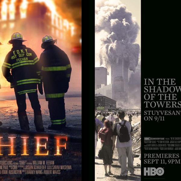 「チーフ」と「塔の影の中」の映画ポスター