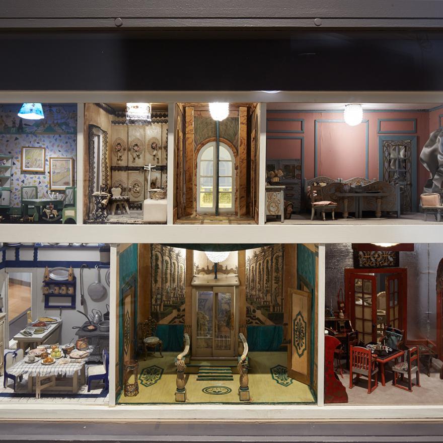 뉴욕시 박물관의 스테트하이머 인형의 집 전시회 이미지