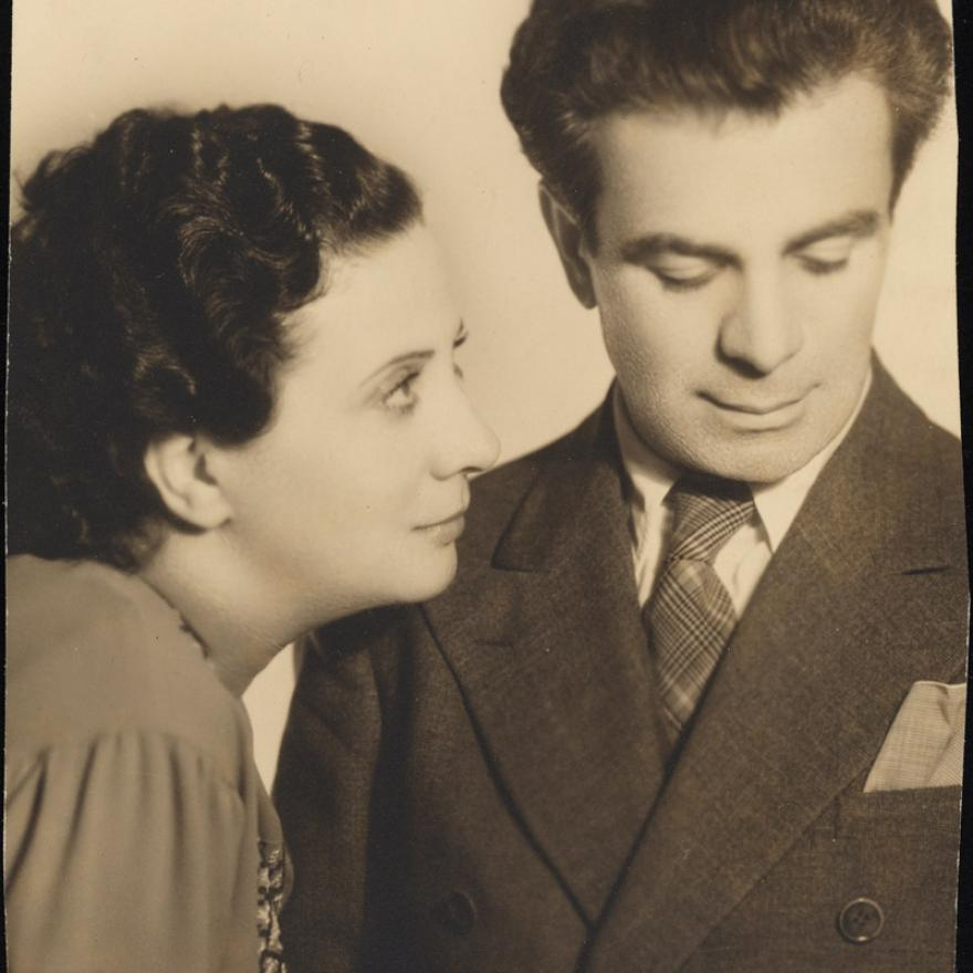 Portrait of Berta Gersten and Jacob Ben-Ami circa 1930