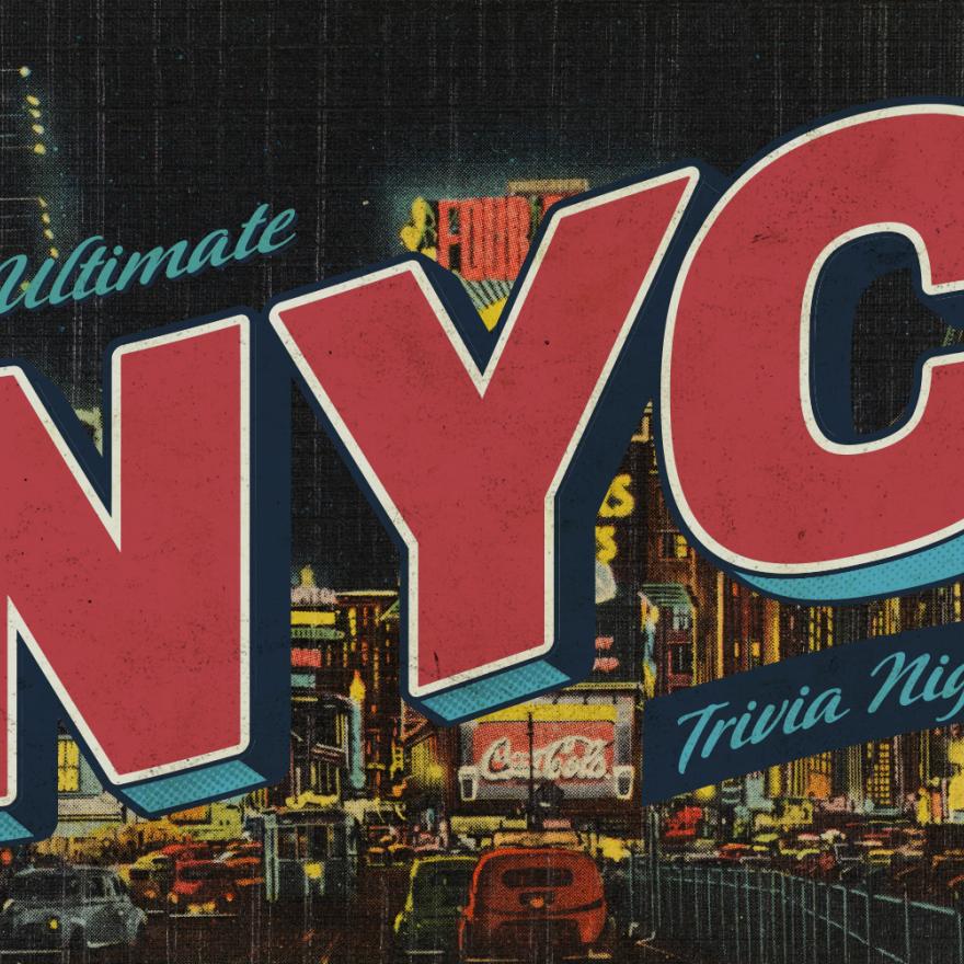 纽约时代广场的明信片