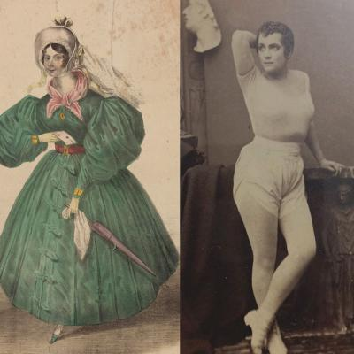 Four women who were rebels of the Victorian era. The women are not identified, but defied gender expectations of the time