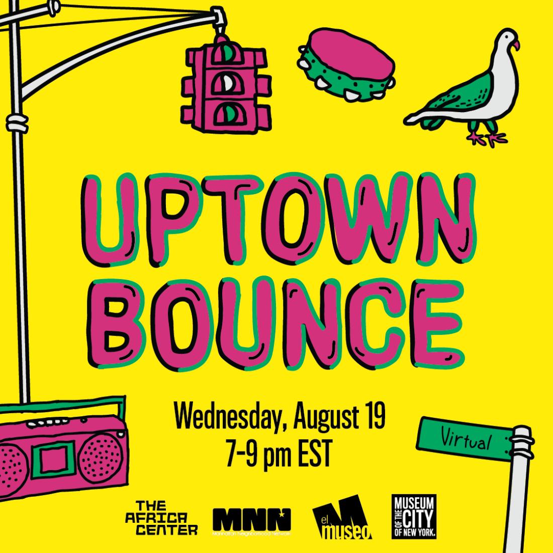 Gráfico Uptown Bounce com desenhos