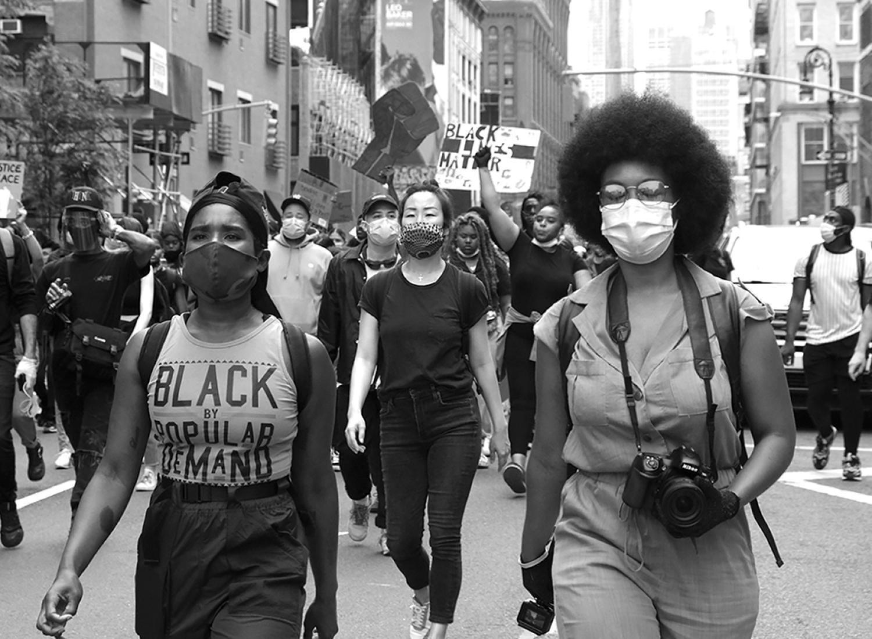 Janette Beckman, Demonstração da Vida Negra, NYC, junho de 2020