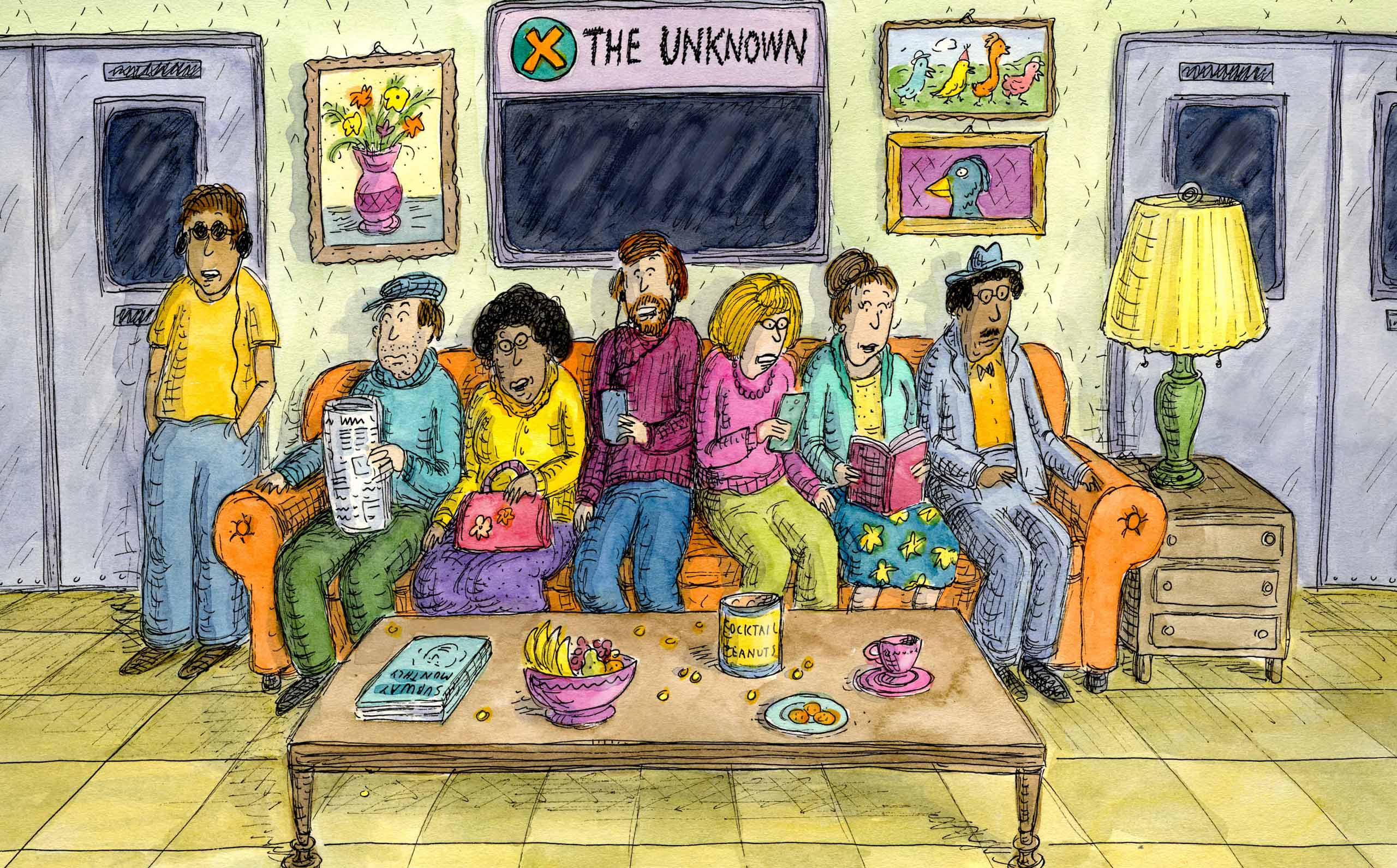 Roz Chastによる地下鉄のソファの漫画