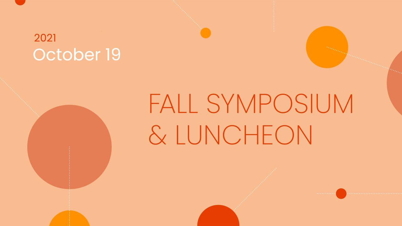 Symposium et déjeuner d'automne