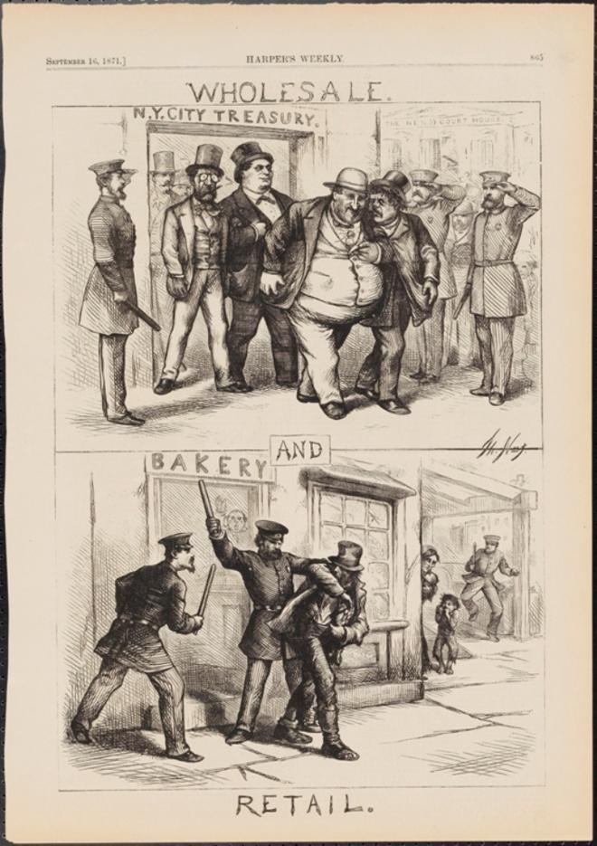 Thomas Nast (1840-1902). Grossiste et détaillant. 1871. Musée de la ville de New York. 99.124.5