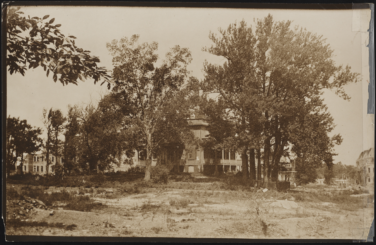 Wurts Bros. (New York, NY). Convent Avenue and 143rd Street. Hamilton Grange and thirteen original trees. ca. 1912. Museum of the City of New York. X2010.7.2.16197